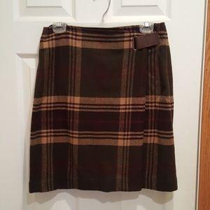 Jones of New York Wool Wrap Skirt